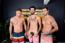 The Awkward Boner: Carter Woods, Justin Matthews & Leeroy Jones (Bareback)