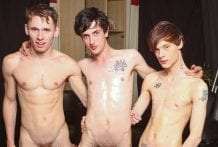 Three Boys In A Bareback Party: Lewis Romeo, Oscar Roberts & Cody Reed